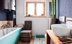 Ekologiczna łazienka z designerskim akcentem