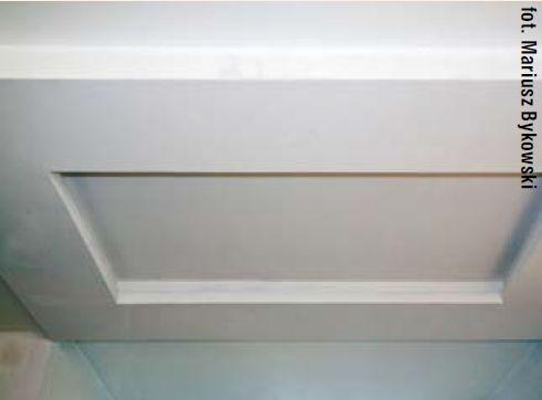 Sufit podwieszany. Miejsce na diody LED