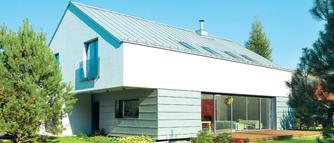 Modne pokrycie dachowe w szarym kolorze