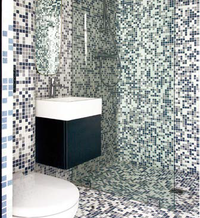 Prysznic wykończony płytkami