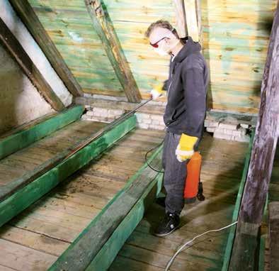 Impregnacja więźby dachowej
