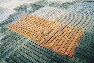 Drewniany taras - czyszczenie