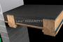 Układanie keramzytu podsypkowego w stropie drewnianym