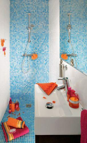 Prysznic na kafelkach