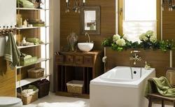 Naturalna aranżacja łazienki - pomysł na łazienkę całą w drewnie